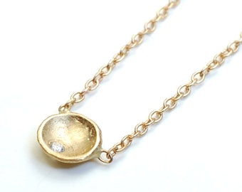 Gold and Diamond Coin Necklace, Nixin