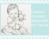 Custom Portrait Reserved For Carrie