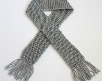 Silver Grey Knit Baby Scarf Boy or Girl Photo Prop Winter Scarves Accessories Child Knitted Gray Portrait Newborn Infant Scarfs Babies Gift