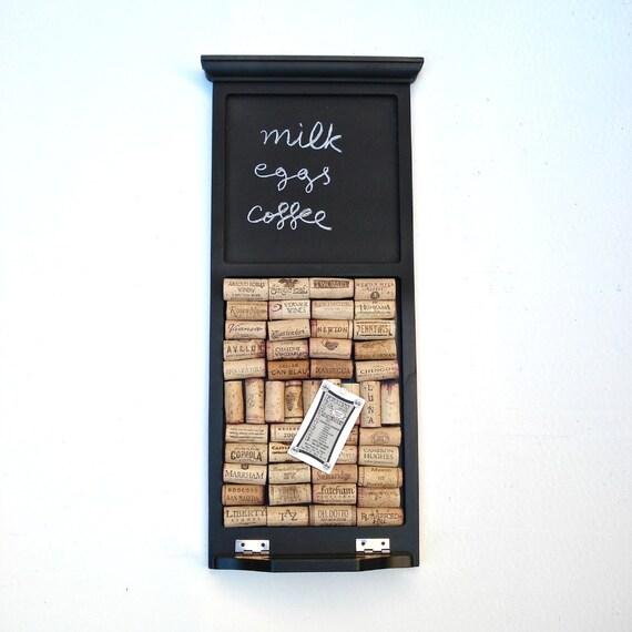 Wine cork board and chalkboard by Lolailo