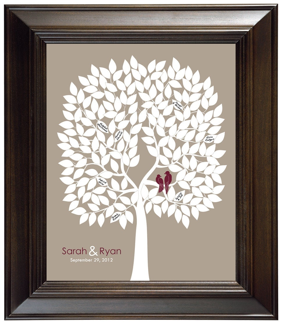 Unusual Wedding Gifts For Guests : Wedding tree guest book alternative unique guestbook ideas