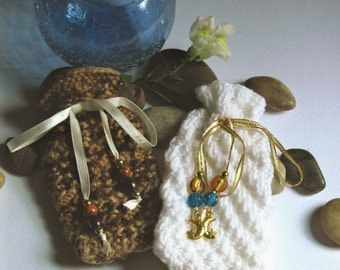 Hand Knit Amulet-Mojo Bags Set of Two