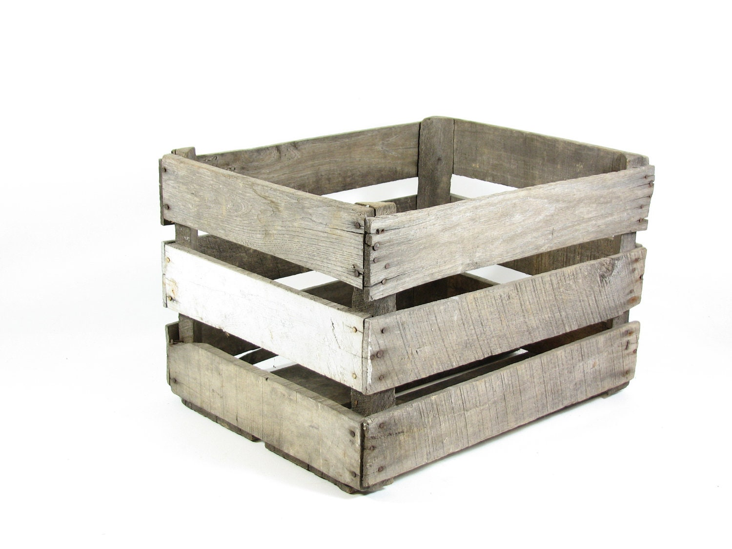 Vintage wood crate box wooden fruit crate by bridgewoodplace for Wooden fruit crates