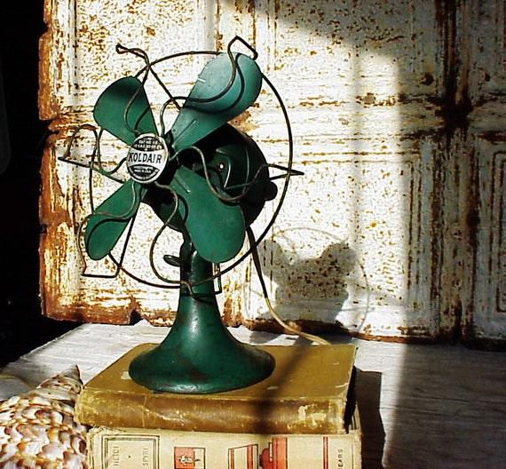 Vintage Kold Air Green Electric Fan