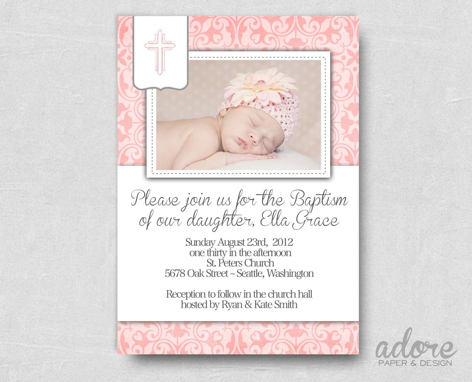 Free Printable Baptism Invitations can inspire you to create best invitation template