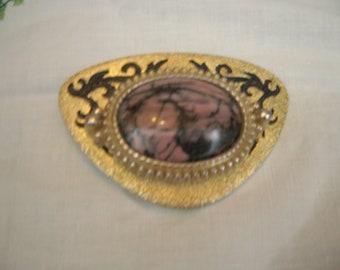pink belt buckle rhodonite cowgirl chic