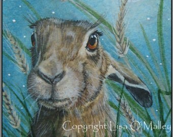 "Print Hare ""Harvest Moon"""