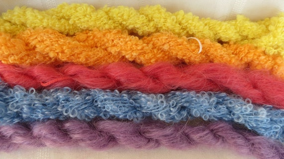 Assorted Mohair Boucle Mini skeins Yarn No.76