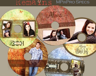 INSTANT Download- The Memory Remains CD/DVD Label Templates- custom photo templates for photographers on MPixPro Specs