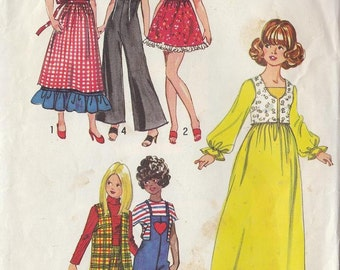"Vintage FASHION DOLL Wardrobe 11-1/2"" Fashion Doll Sewing Pattern Barbie 1971"