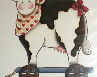 Ragamuffins 1991 Utter Delight Cow Iron-On Transfer New/Old in Package