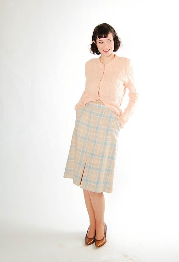 vintage 1960s pencil skirt 60s wool skirt by concettascloset