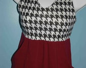 Crimson and Houndstooth Tank Dress with Pockets in Womens Sizes XS to L