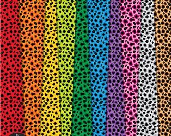 Digital Paper Pack - Colorful Cheetah - 10 digital papers