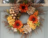 Summer Wreath - Fall Wreath - Sunflower Wreath - Wreath for Door
