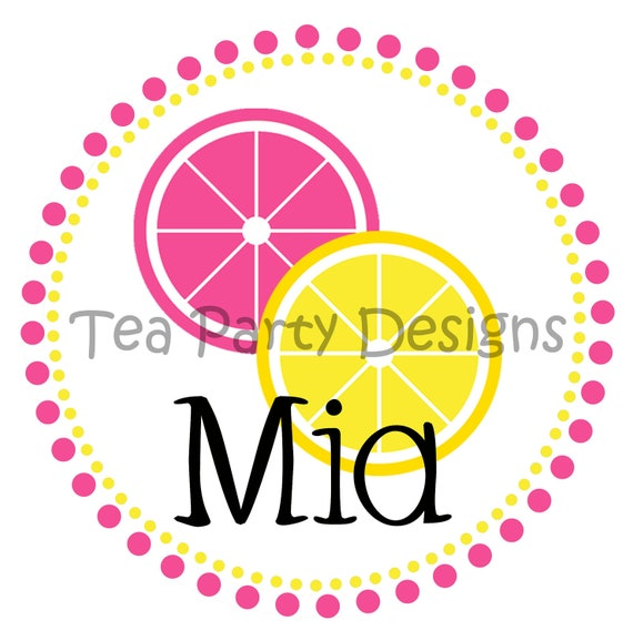 Sweet Pink Lemonade...Personalized Party Iron-on Shirt Transfer