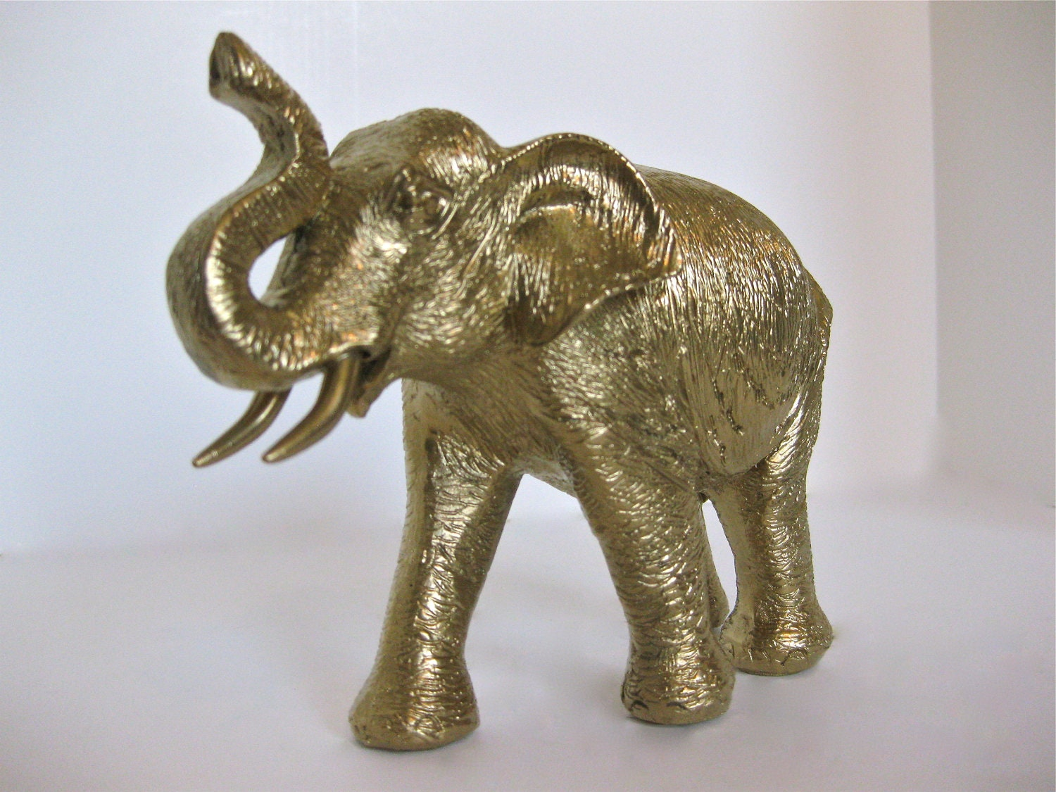 Items Similar To Gold Elephant Figurine Gilded Trendy Home