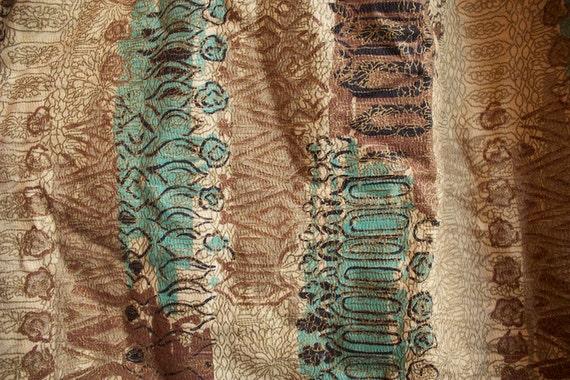 Vintage 1940s RETRO TIKI Abstract Bark Cloth Curtain Panel