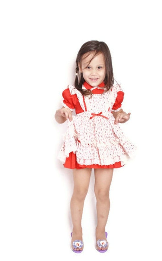 Girls Vintage 1950s Christmas Candy Cane Children S Dress