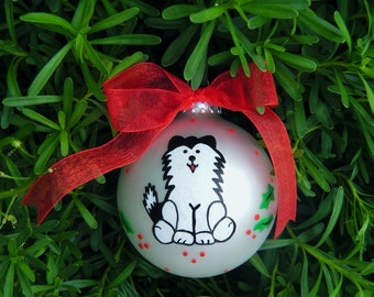Siberian Husky or Alaskan Malamute - Personalized Dog Ornament - Handpainted Glass Ball Ornament, Dog Lover, Dog Portrait Pet Lover Ornament