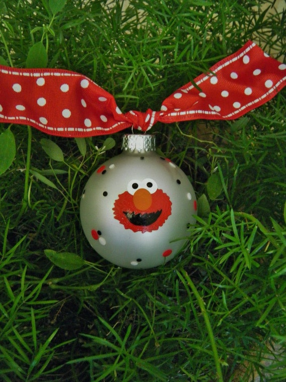 Sesame Street Elmo Ornament Personalized Birthday Elmo or
