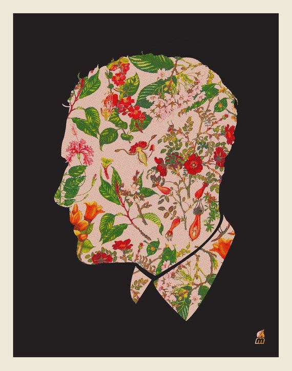 Floral Man Silhouette
