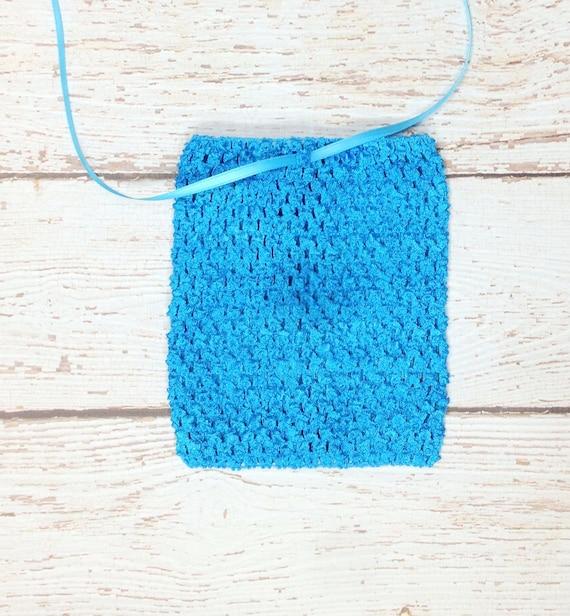 "6"" Crochet Tutu Tube Top - Turquoise"
