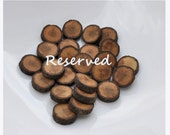 wood button - set of 20 OAK wooden buttons handcrafted and handmade from a tree branch wood... 2 holes... 7/8 inches