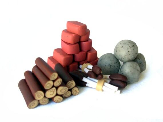 Agricola Clay Resource Token Set