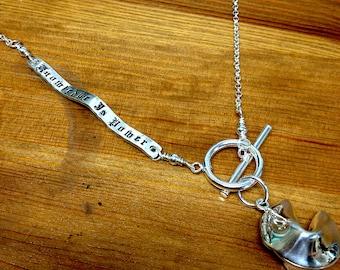 Custom Enscribed Fortune Cookie Necklace