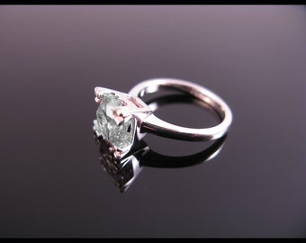 White Cubic Zirconia Ring