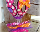 "Birthday ""Number"" Wine Glass - Polka Dots"