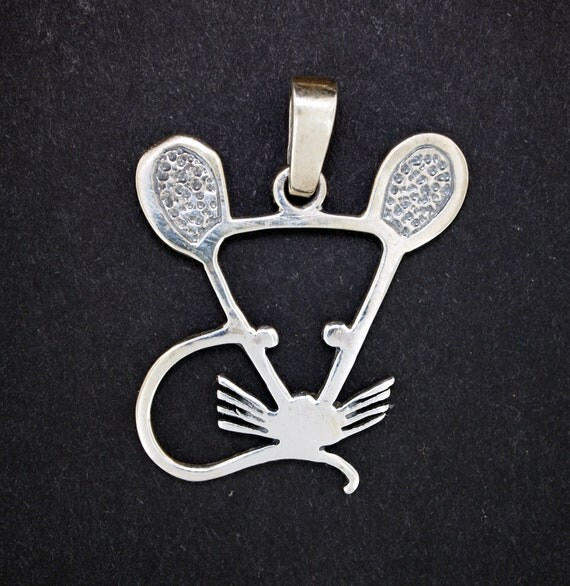 Mouse Pendant in Sterling Silver
