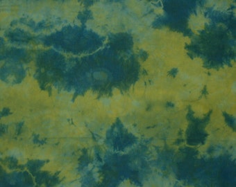hand dyed green cotton fabric - 351