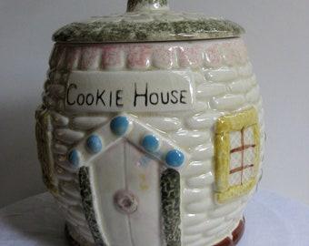 Cookie House Cottage Cookie Jar
