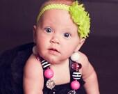Help Heal McKennlie- Kassidee neon lime green headband - 100% proceeds donated to McKennlie