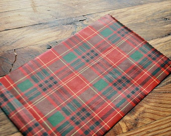 christmas treat bags red plaid favor bags holiday gift bags