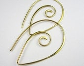 Natural Bronze Spiral Earwires