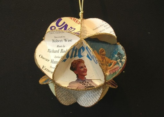 The Sound Of Music Album Cover Ornament Made Of Record Jackets - Broadway, Movies