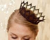 Dark Queen Fairytale Black Lace Crown