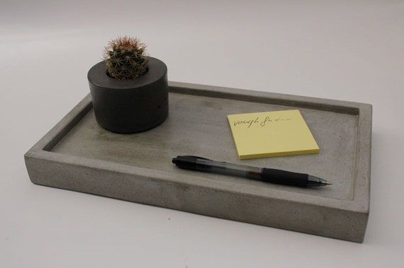 """CLEARANCE SALE  Concrete Tray 12"""""""