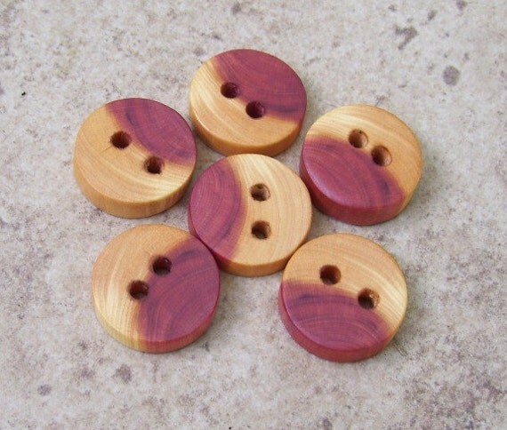 Small Cedar Tree Branch Wood Buttons Perfect For By Oruaka