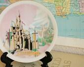 Vintage Souvenir Plate - Disneyland