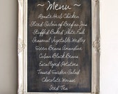 Chalkboard Sign RUSTIC WEDDING Sign Framed CHALKBOARD Vintage Wedding French Country Chalk Board Menu Decoration Ornate Old World