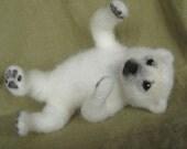 Needle felted Polar Bear teddy
