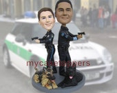 personalized cake toppers police uniform