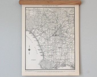 Los Angeles 1930s Map | Antique California City Map