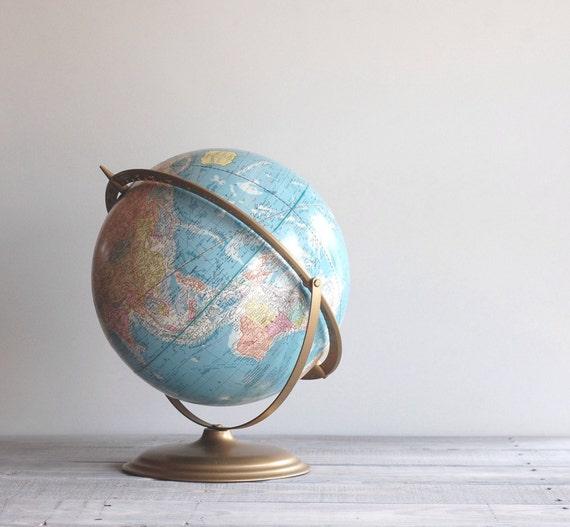 "Vintage World Globe Cram's 12"" Scope-O-Sphere / 1970s Globe"