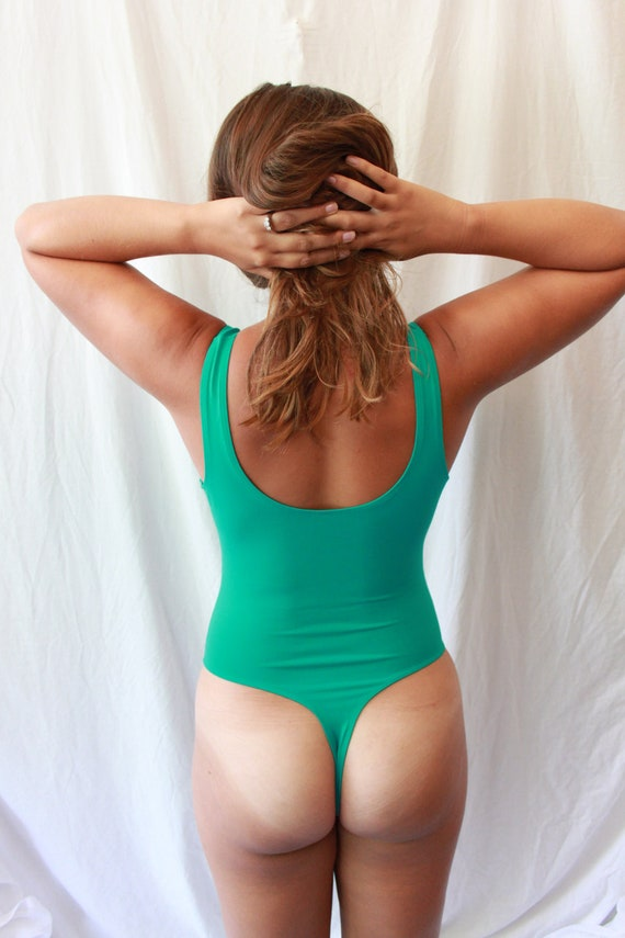 80s Turquoise Workout Wear Thong