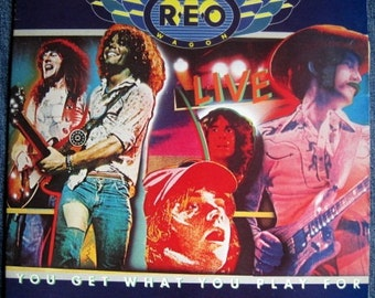 REO SPEEDWAGON You Get Whay You Play For Live Double Lp 1977 Vinyl Record Album